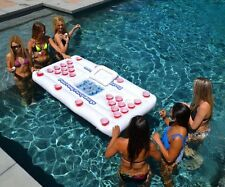 Inflatable Beer Pong Table Floating Cooler Pool Beach Party Game Swimming Lounge