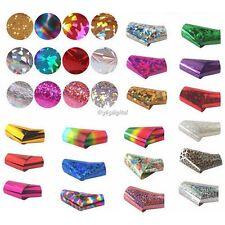 50 PZ Nail Art Wrap Foil Adesivo Glitter Decalcomania Smalto Manicure 35DI