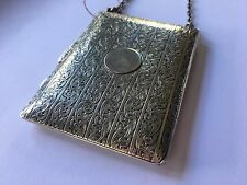 Antique Solid Sterling Silver Compact Dance Purse with Pen | Antique Coin Purse