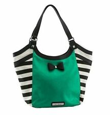 Gg Rose By Rock Rebel Aqua Sailor Striped Tattoo Punk Rocker Tote Handbag Purse