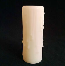 4 INCH IVORY STANDARD SOCKET CANDLE COVER DRIPS FLOOR WALL LAMP & CHANDELIER