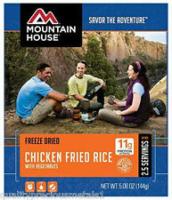 1  - Mountain House Freeze Dried Food Pouch - Chicken Fried Rice- New