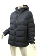 MICHAEL MICHAEL KORS Navy Blue Quilted Hooded Down Jacket M $225