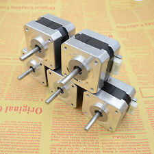 5PCS NEMA 17 Stepper motors kit 12V For CNC Reprap 3D printer 36oz-in 26Ncm 0.4A