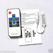 RF Wireless Remote Controller Mini Dimmer  DC Plugs for RGB LED Light Strips