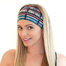 Women Girls Running Yoga Sports Sweatband Headband Elastic Hair Band Bohemia New