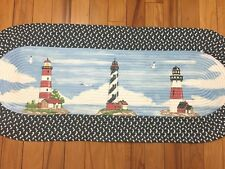 Lighthouse Braided Nautical Seaside Kitchen Floor Runner Seashore Accent Rug