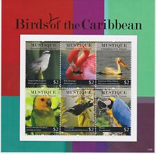 Mustique of St Vincent - Birds of the Caribbean, 2011 - 1109 Sheetlet of 4 MNH