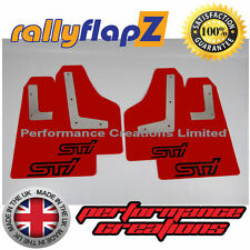 rallyflapZ SUBARU IMPREZA Saloon (08-14) Mud Flaps Red STi Black 4mm PVC