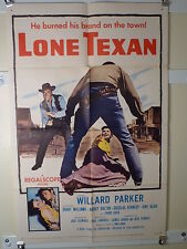 1958 LONE TEXAN 1SHT- GREAT WESTERN ART