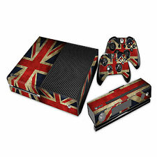 Union Jack Xbox One Console Skin Sticker + Kinect + 2 controller Vinyl Graphic
