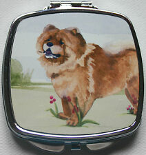 CHOW CHOW DOG ladies handbag mirror compact Sandra Coen sublimation printed