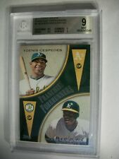 YOENIS CESPEDES/RICKEY HENDERSON 2012 Topps Update FF #9 BGS MINT 9 A's