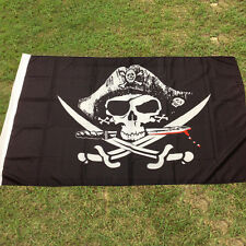 3x5FT Skull and Cross Sabres Sword Jolly Roger Pirate Flag With Grommet