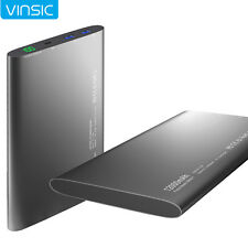 Vinsic 12000mAh Power Bank Pack Portable External Battery Charger for Cell Phone