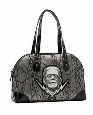 Frankenstein Lace Silver Horror Halloween Rockabilly Rocker Punk Goth Handbag