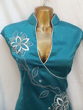 Oriental Turquoise Elegance Chinese dress 18 20