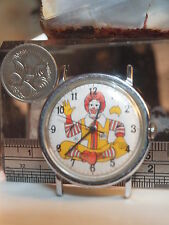 RONALD MCDONALD (MAP OF AUSTRALIA ON FACE) WRIST WATCH - WIND UP - WORKS FINE
