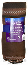 New COZY NIGHTS by Cannon Fleece Throw Blanket 50 x 60 in Brown Plaid