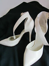 Lipstick shoes size 7.5 beige, ankle strep