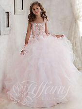 Flower Prom Girl Princess Kids Pageant Dress Ball Birthday Wedding Party Gown
