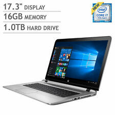 "New HP Envy 17T 17.3"" FHD 7th Gen i7-7500U 16GB RAM 1TB HDD 4GB NVIDIA NO TOUCH"