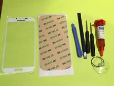 Samsung Galaxy S4 i9500 White Front Glass Lens screen Replacement Kit+Tool Glue
