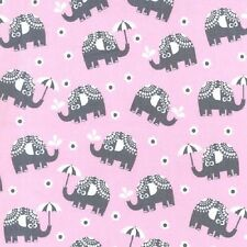 Fat Quarter Pink Water for Elephants Cotton Quilting Fabric - Michael Miller