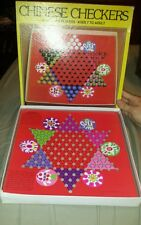 Vintage Chinese Checker Card Board Game in its Original Box with Marbles