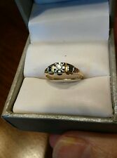 14k/18k Yellow White Gold .03ct Vintage Diamond Engagement Ring 1.2g Estate(99)