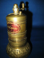 """4.5"""" Antique Made in  Germany Solid Brass Embossed Grinding Mill  W/Handle 11oz"""
