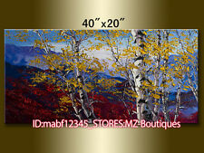 "YH1165 40X20""Hand painted Oil Canvas Wall Art home Decor Landscape NO Frame"