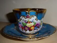 Popov Popoff tea cup saucer Russian Imperial porcelain