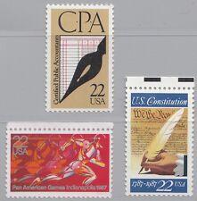 USA (63) 3 Werte aus Jahrgang 1987: 1863  1949  1950  postfrisch