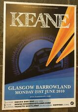Keane -  UK gig poster, Glasgow, June 2010