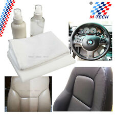 KIT CLEANING LEATHER STEERING WHEEL SEATS SPRAY CLEANER+CONDITIONER BMW E34 E39