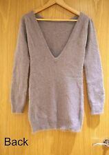 Kimchi Blue grey fluffy angora rabbi long sweater/ short dress XS *BNWT* RRP £65