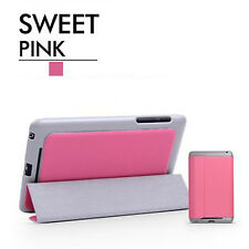 Pink For Google Asus Nexus 7 Tablet Leather Folio Stand Case Smart Cover