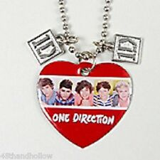 "1 Direction 1D One Direction Global Charm Pendant 32"" Necklace New with Tags"