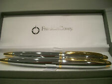 Franklin Covey Lexington Gold/Chrome Ballpoint Pen/Pencil Set by AT CROSS Silver