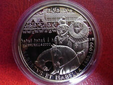 1999 Belgium Silver Proof 500 Fr-King Albert & queen Isabella 1599