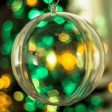 x50 Transparente Bolas Vacío Rellenable Adornos Para Árbol De Navidad 140mm