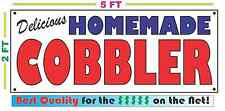 HOMEMADE COBBLER BANNER Sign NEW Larger Size Best Quality for the $$$
