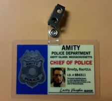 Jaws ID Badge-Amity Chief of Police Martin Brody  costume cosplay prop