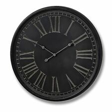 Large Wall Clock Charcoal Grey