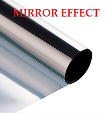 3M x 50CM SILVER CAR VAN HOME, WINDOW FILM TINTING SHADE KIT MIRROR EFFECT