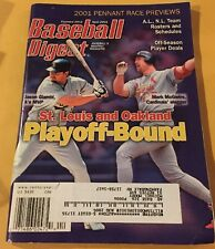 Baseball Digest April 2001 Pennant Race Preview Magazine