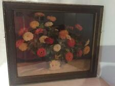 1920s Antique Vintage Art Deco Bright FLOWER Floral PICTURE FRAME Country French