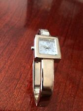 Cache Silver Tone Bangle Band Ladies Quartz Watch