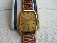 MEN'S ROLEX CELLINI,18K  YELLOW SOLID GOLD,REF 3807,CAL 1601,19 JEWELS